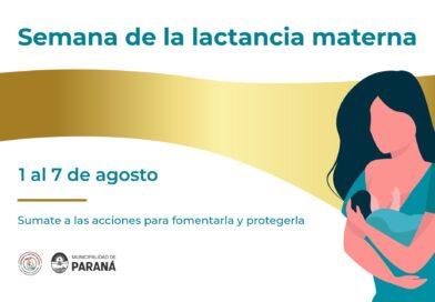 La Municipalidad adhiere a la semana mundial de la Lactancia Materna